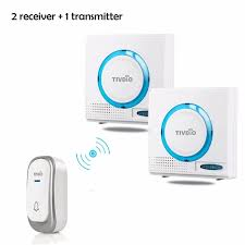 wireless doorbell system with light indicator 2 color wireless doorbell battery chime kit remote button door bell