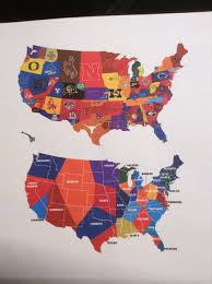 Nfl Usa Map by This Map Shows The United States Divided By Which Nfl Or College