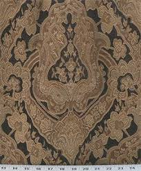 Discount Upholstery Fabric Outlet Light Gold N Ivory Damask Fabric Upholstery Fabric By Fabricmart