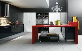 Red And Black Kitchen Tiles - kitchen black red white modern kitchen with glass transparent