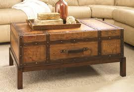 furniture glamorous wood trunk coffee table ideas brown