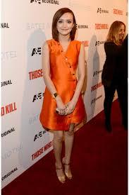 cooke orange bridesmaid dresses u0027bates motel u0027 season 2 la premiere