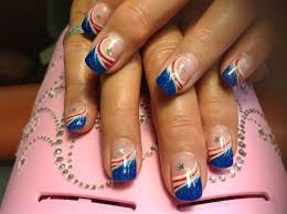 nail art red white and blue mailevel net