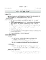 aircraft mechanic resume builder maintenance catchy pilot aviation