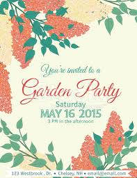 Gathering Invitation Card Garden Party Invitation Template Stock Photos Freeimages Com