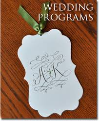 Fan Programs For Weddings Wedding Programs Fully Assembled Wedding Programs Wiregrass
