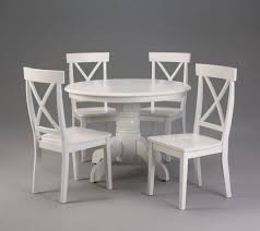 contemporary ideas white round dining table set stylist design