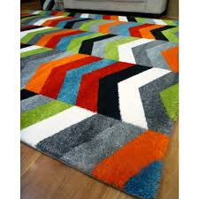 Large Kids Rug by Chevron Modern Rugs Monument Bright Rugs Free Shipping Australia