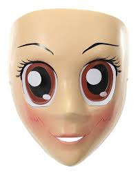 halloween spirit masks amazon com elope brown eyes anime mask toys u0026 games