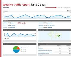 seo monthly report template seo report template