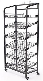 Shelves On Wheels by Best Bakery Racks On Wheels Bakers Rack Includes 6 Removable