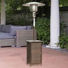 Garden Patio Heater Homcom 12kw Patio Heater Standing Outdoor Garden Heating Rattan
