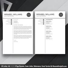 Simple Creative Resumes Professional Resume Template Word Resume Simple Cv Template