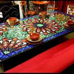 Mosaic Dining Room Table Mosaic Dining Room Table Atablero Com