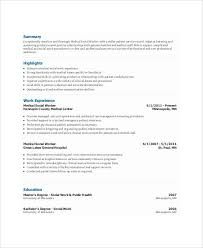 Resume For Social Workers Work Resumes 31 Free Pdf Documents Download Free U0026 Premium