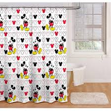 Zoological Shower Curtain Disney Mickey Mouse Fabric Shower Curtain Dream Home Pinterest