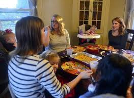 the day thanksgiving with a different of family news from