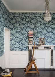 Wallpaper Powder Room Ideas Farrow U0026 Ball Hornbeam Wallpaper On The Wall Wall Treatments