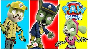 paw patrol transforms zombie zombie bites paw patrol finger