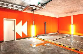 cool garage interior paint color ideas furnicool co orange wall