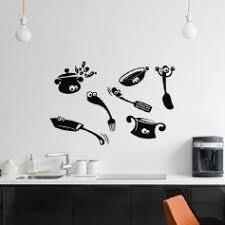 objets de cuisine stickers muraux ustensile cuisine stickers cuisine ambiance