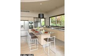 cuisine avec fenetre cuisine en l avec ilot et fenetre solutions pour la décoration