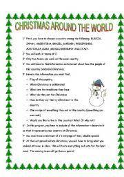 ideas of traditions around the world worksheets with
