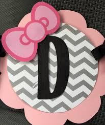 kitty pink gray black white happy birthday banner