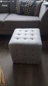 Homesense Ottoman Grey Square Footstool Seat From Homesense In Finchley