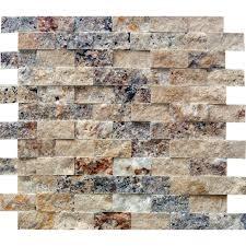 Split Face Stone Backsplash by Split Face Tumbled Stone Backsplash 12x12 Pieces Saw On Fixer