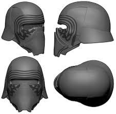 kylo ren helmet resin printed