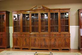 large mahogany china cabinet large breakfront extra large