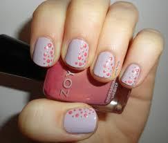 writing beauty spring polka dot nail art