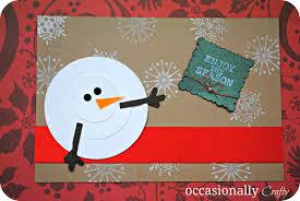 Homemade Christmas Card Ideas by A Handmade Christmas Occasionally Crafty A Handmade Christmas