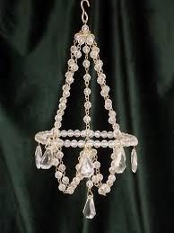 mini chandelier ornaments glass bead chandeliers set to hang