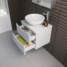 600mm wall hung bathroom storage vanity unit u0026 countertop basin