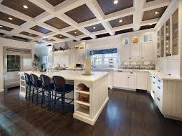 Coffered Ceiling Lighting by Coffered Wood Ceiling Kitchen Traditional With Under Cabinet