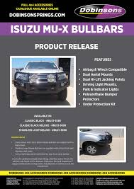 dobinsons bull bar for isuzu mux 2012