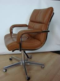 Leather Desk Chair by Italian Leather Office Chair 1980s For Sale At Pamono