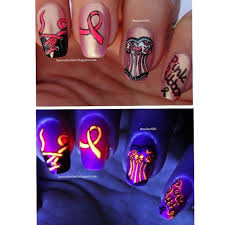 october is breast cancer awareness month nail art by margriet