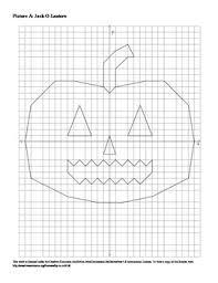 halloween jack o lantern coordinate plane connect the dots worksheet