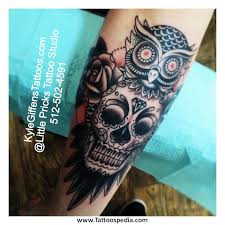 sugar skull owl tattoo tattoo collections