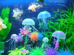 Jellyfish Home Decor by 5pcs Glowing Effect Artificial Fake Jellyfish For Fish Tank