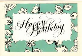 lettering lady birthday card to a friend