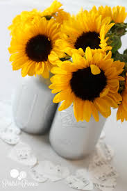Centerpieces With Sunflowers by Princess Bridal Shower Mason Jar Sunflowers Love This