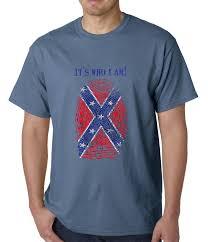 Origin Of Rebel Flag It U0027s Who I Am Confederate Flag Thumb Print Mens T Shirt