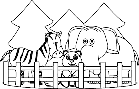 Zoo Coloring Pages Free Preschool Coloring Pages Zoo Animals