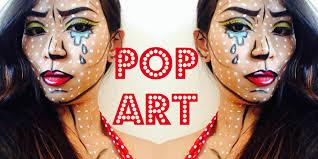 Halloween Makeup Comic Pop Art Comic Book Makeup Tutorial Youtube