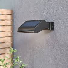 solar powered exterior wall lights solar powered outdoor wall lighting you ll love wayfair