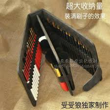 professional makeup books large capacity 50 jacks makeup brushes holder book professional pu